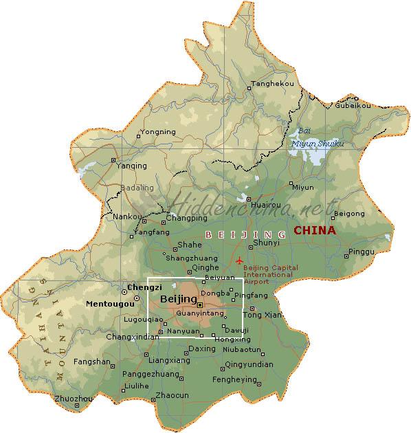 Hidden China Gmbh Map Of Beijing China