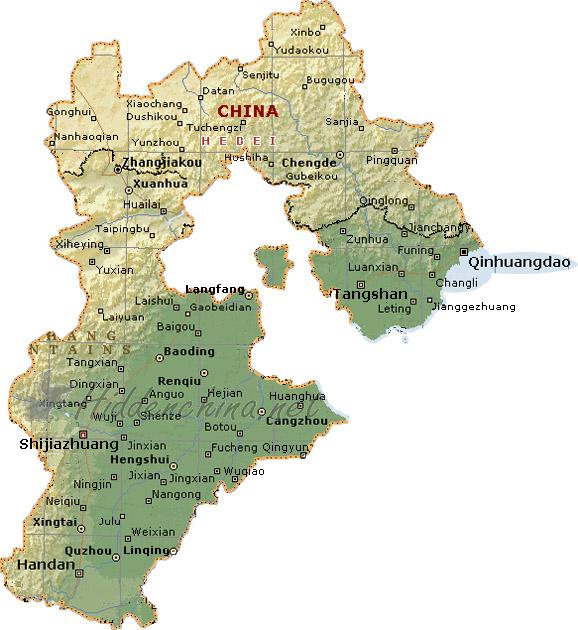Hidden china gmbh map of hebei province china map of hebei province china gumiabroncs Image collections