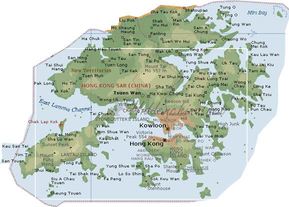 Karte China Hong Kong.Hidden China Gmbh Karte Von Hong Kong China
