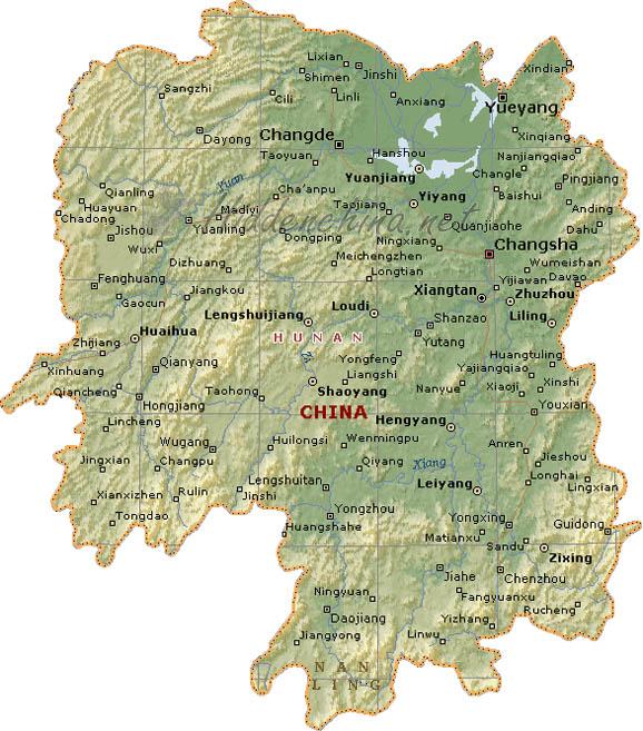 Hunan Province China Map.Hidden China Gmbh Map Of Hunan Province China