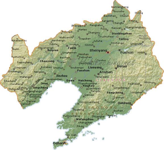 Hidden China GmbH Map Of Liaoning Province China - Haicheng map